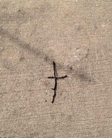 sidewalk cross