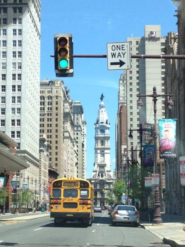 Heading into the City of Brotherly Love for lunch.