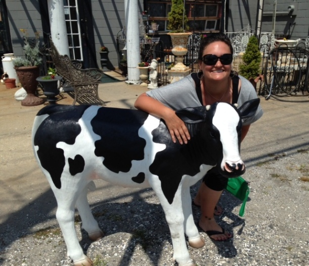 CM me with cow