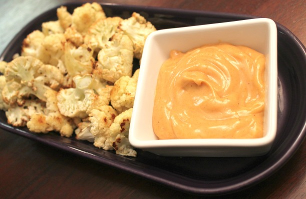 Roasted Cauliflower with Smoky Dipping Sauce