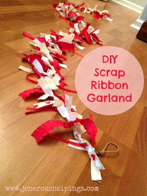 DIY Scrap Ribbon Garland